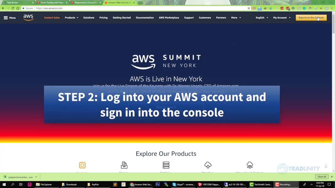 How to install an MT4 application on a Free AWS VPS