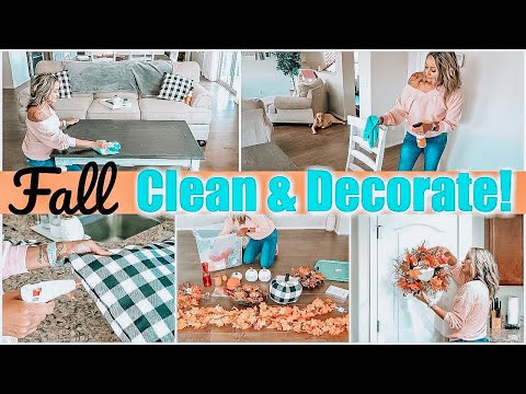 FALL CLEAN AND DECORATE WITH ME | CLEAN WITH ME 2019 | FALL DIY