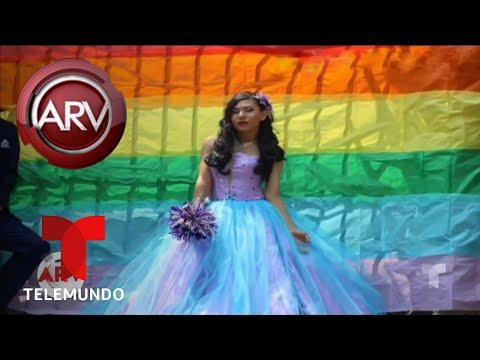 Joven Gay Cumplió Su Sueño De Tener Su Fiesta De Quince   Al Rojo Vivo   Telemundo