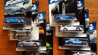 Форсаж 2017 машинки Хот Вилс ХотВилс Hot Wheels Fast and Furious set