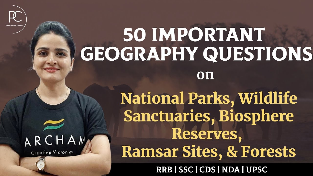 Geography: Important Questions on National Parks, Wildlife Sanctuaries, Biosphere Reserves & For