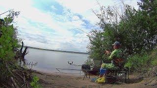 Летний фидер Рыбалка летом на реке