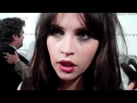 Felicity Jones Talks To Red Carpet ReportAt The National Board Of Review Awards Gala In NYC