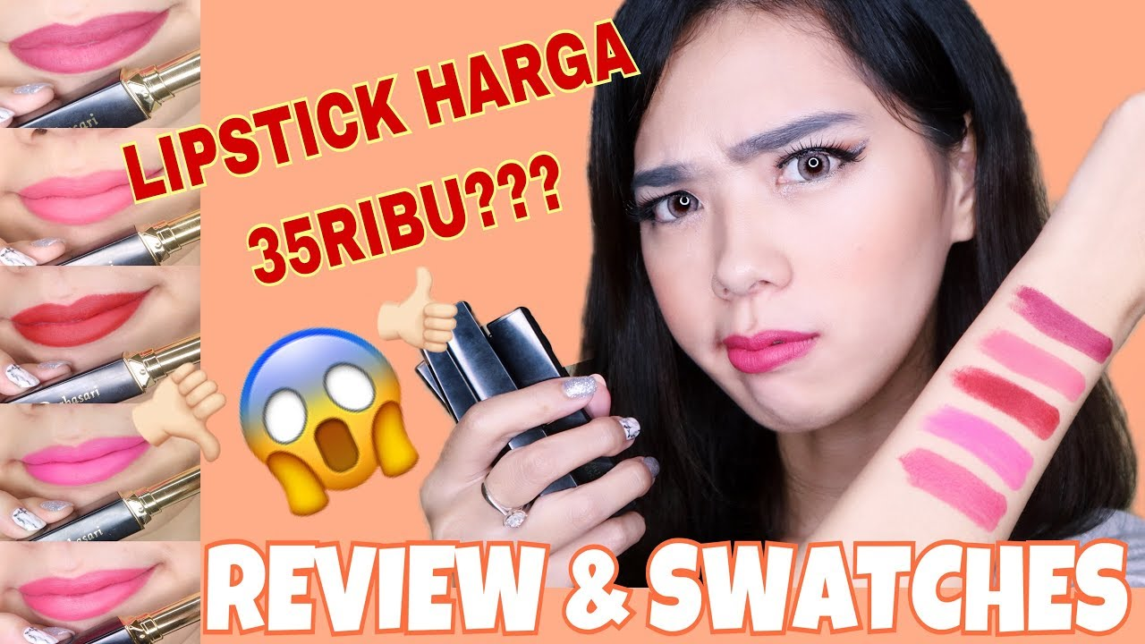 Lipstick Termurah Cuman 35ribu Purbasari Matte 91 95 Colour Review Swatches