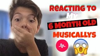 reacting to my 6 month old cringey musicallys