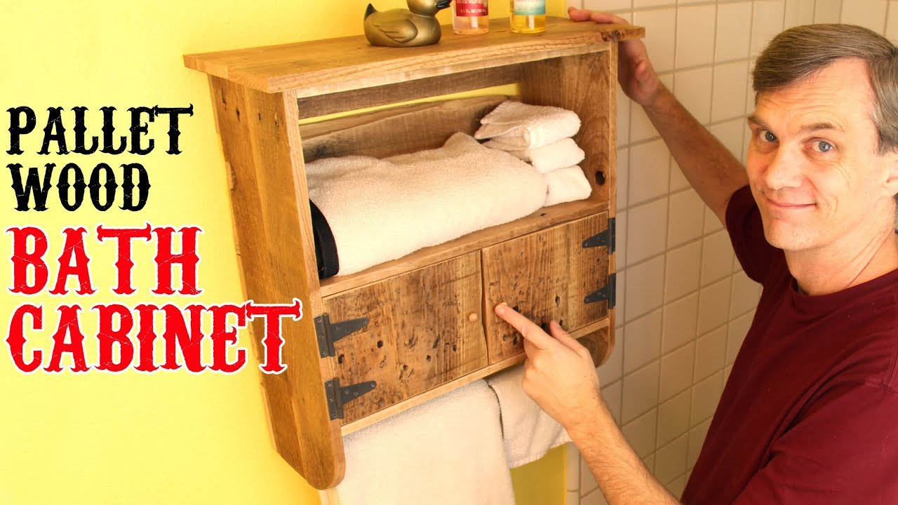 Rustic Bathroom Wall Cabinets Rustic Pallet Wood Bath Cabinet Unique Charm For Your
