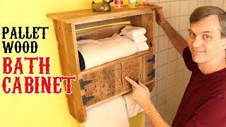 Rustic, Pallet-wood Bath Cabinet. Unique Charm For Your Bathroom.