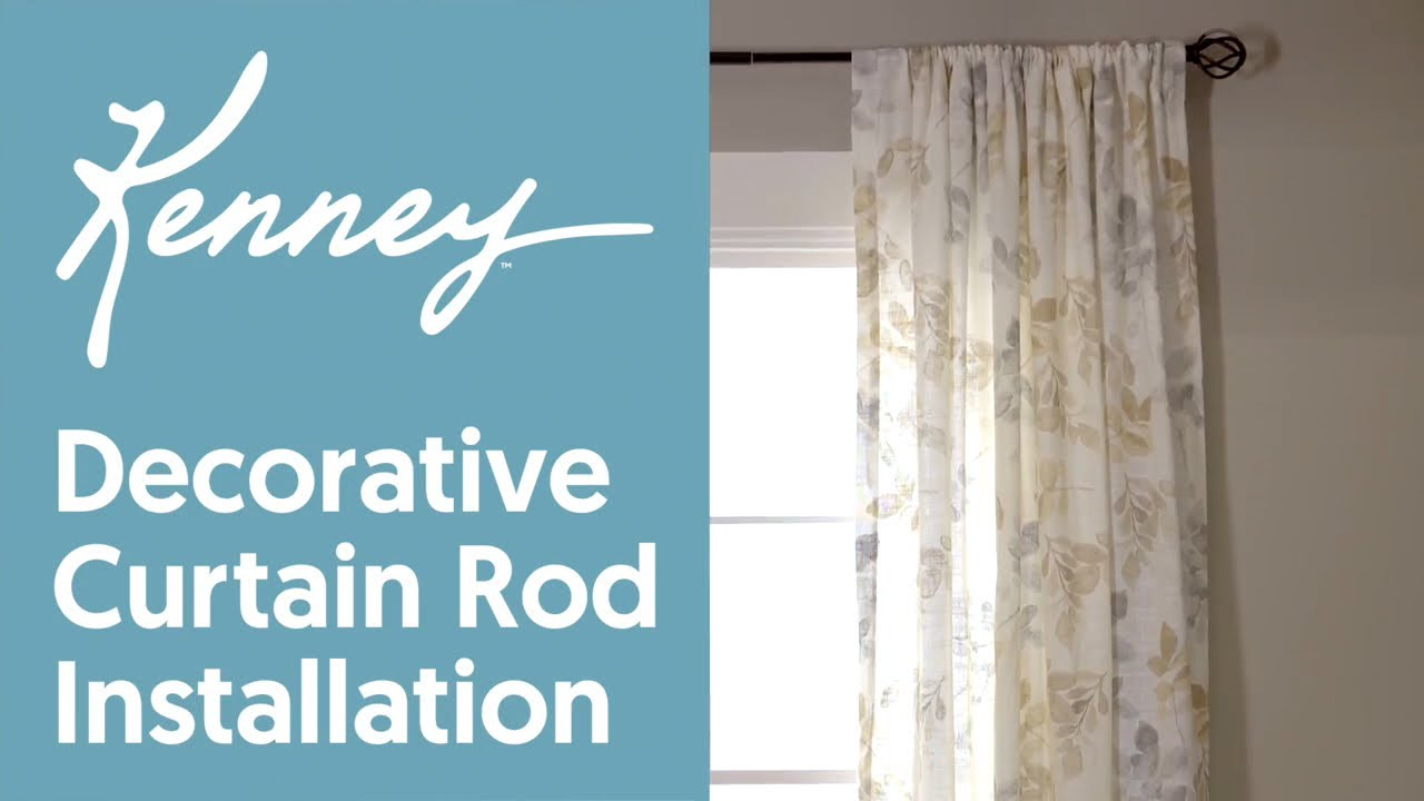 Mounting Curtain Rods Kenney Decorative Curtain Rod Installation