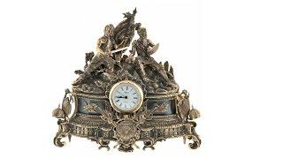"""Каминные часы """"Гладиаторы"""", роскошный подарок от Luxpodarki.ru"""