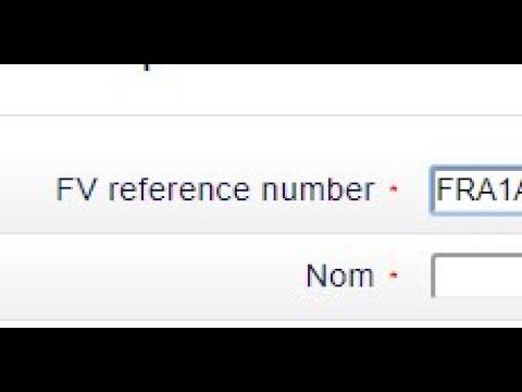 FRANCE VISAS REFERENCE NUMBER