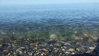 The sound of the surf in Sochi. The sounds of nature. Sea breeze. The Black Sea in Sochi
