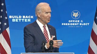 video: Joe Biden warns lives could be lost if Donald Trump continues to block pandemic transition planning