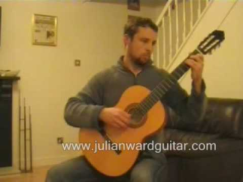 Wonderful Tonight classical guitar arrangement Julian Ward