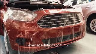 Instalación de PPF marca LLumar en un Ford Figo.