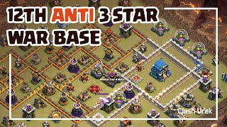 [#24] TH12 Anti 3 Star War Base + Replays_Clash of Clans_2019