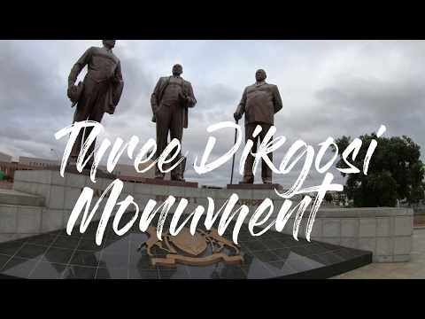 A Visit To Three Chiefs Monument - Gaborone Botswana