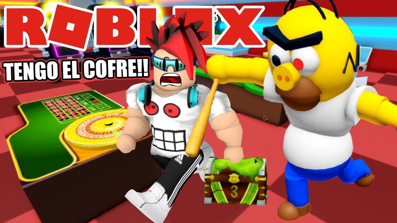 Escapando del Casino de los Piggy Simpsons en Roblox | Buscando Cofre del Tesoro | Juegos Luky