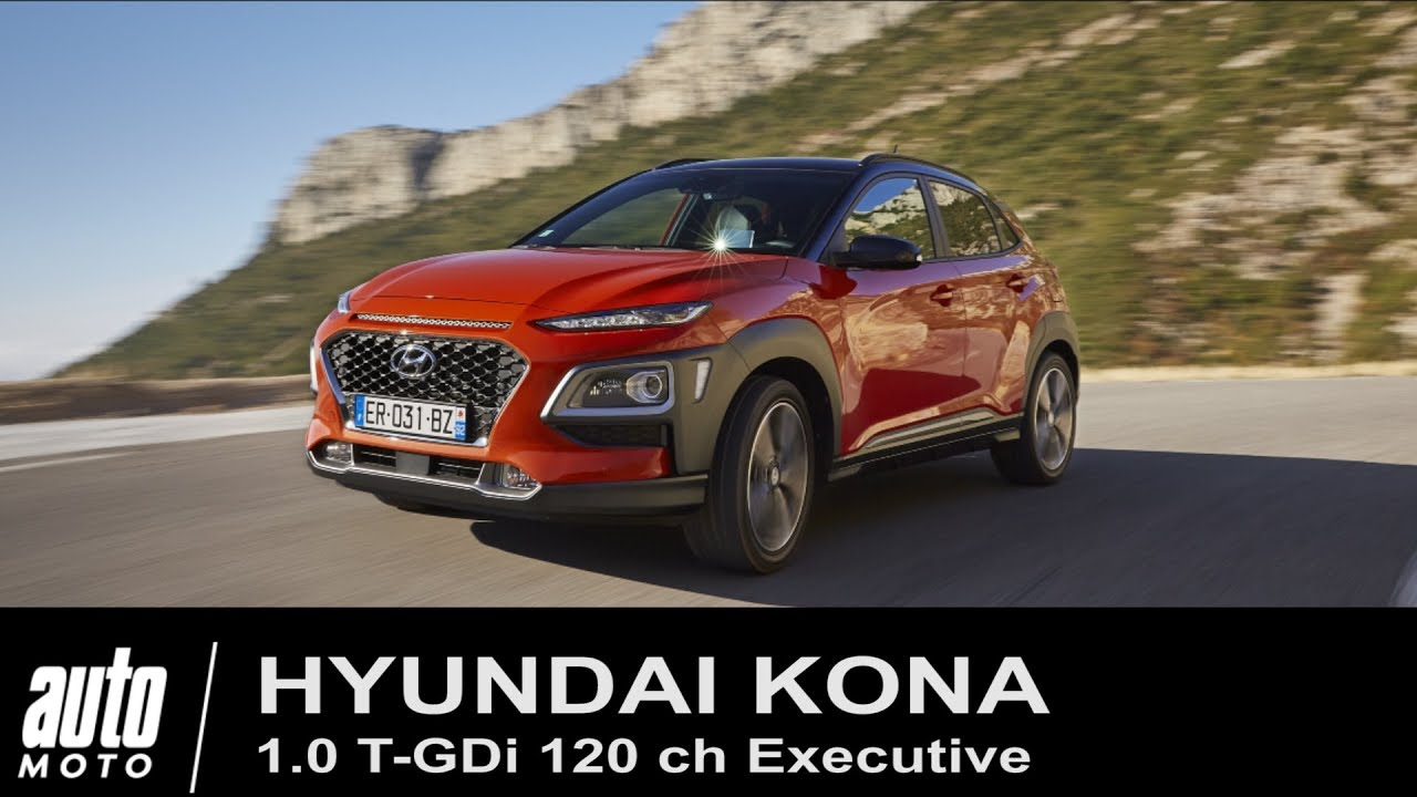 2018 hyundai kona 1 0 t gdi essai pov auto youtube. Black Bedroom Furniture Sets. Home Design Ideas