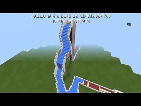 Minecraft: How to Make a Water Slide - Water Park Tutorial