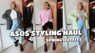 ASOS SPRING OUTFITS STYLING HAUL | 90s VIBES