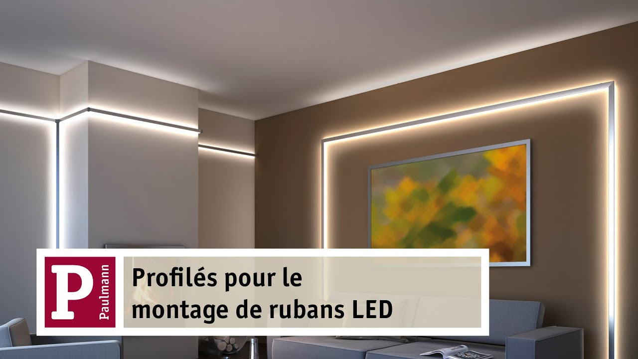 Avec les rubans led et le duo ou delta profiles en for Installer ruban led plafond