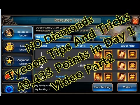 Legacy Of Discord- Tips and tricks for Tycoon. 46,433 Points No Diamonds Part 2