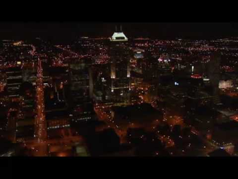 Aerial Video -  Indianapolis at Night
