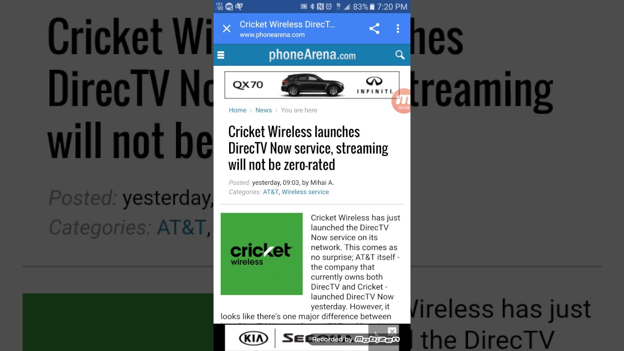 Cricket wireless customer service - Cricket Wireless Offering Direct Tv Now Streaming