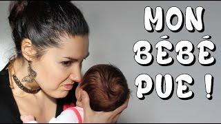 Mon bébé sent mauvais, que faire ?!