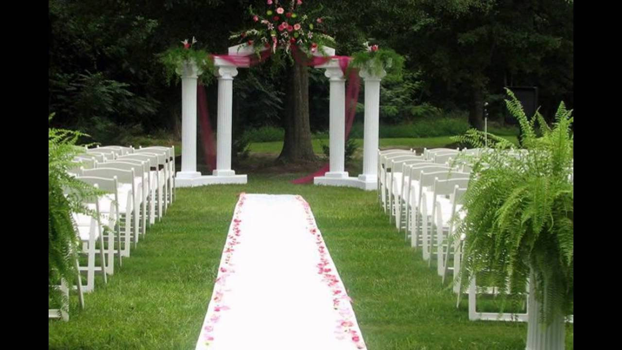 outdoor wedding ceremony decoration ideas on a budget ...