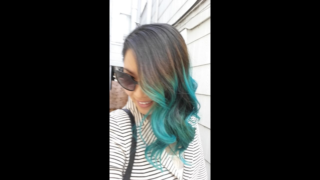 black to turquoise ombre hair - photo #29