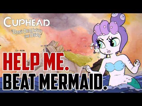 Cuphead : How to Beat Mermaid Medusa Boss (Cala Maria)