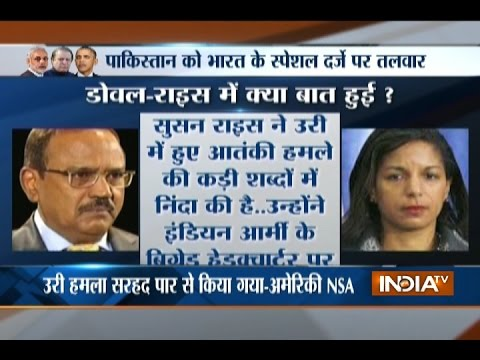 US NSA Susan Rice Calls Ajit Doval, Wants Pakistan to Act on Uri Attack