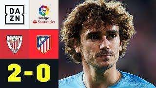 Bilbao schockt Antoine Griezmann und Co.: Bilbao - Atletico Madrid 2:0 | La Liga |  DAZN Highlights