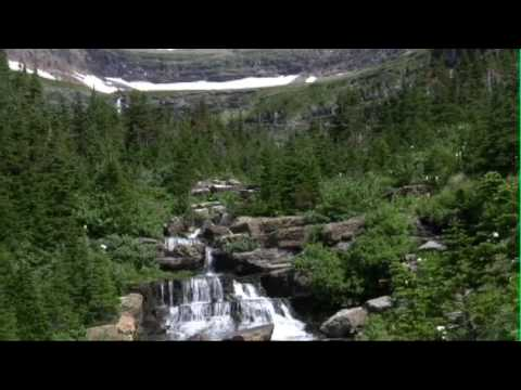 Lunch Creek in Glacier National Park from Deerlake Video