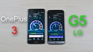 OnePlus 3 vs LG G5 - Speed Test Comparison Review!