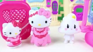 Hello Kitty Ailesi Yeni Evine Taşınıyor HELLO KİTTY Bahçeli Ev Çizgi Film