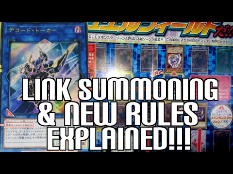 Yugioh New Type of Cards! Link Summoning & Pendulum Rule Changes Explained!
