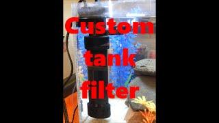 making a fish tank filter custom