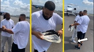 DJ Khaled Gets Pair of Yeezys Right Off Kanye's Feet!