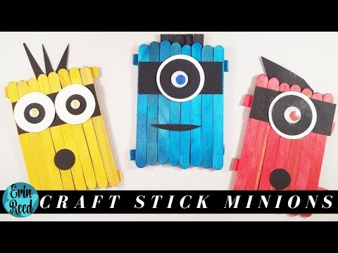 Minion Popsicle Stick Kids Craft