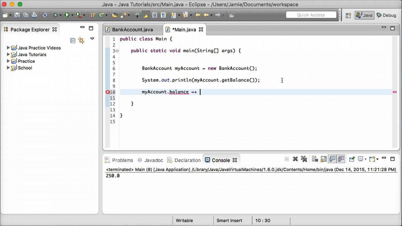 Java tutorial 19 accessor and mutator methods setters and java tutorial 19 accessor and mutator methods setters and getters youtube baditri Gallery