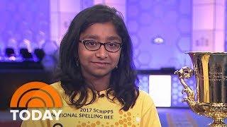 National Spelling Bee Winner Ananya Vinay Talks Her Final Word, Knowing She Had Won   TODAY