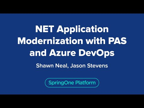 .NET Application Modernization with PAS and Azure DevOps