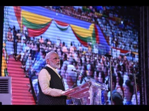 PM Modi at the Indian Community Event in Myanmar