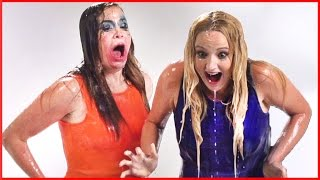 2 Girls Try 21 Challenges in 2 Minutes