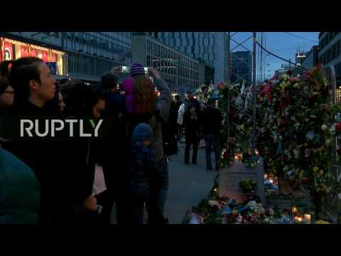 LIVE: Mourners honour victims of Stockholm's attack