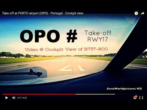 Take-off @ PORTO - Francisco de Sá Carneiro Airport (OPO/LPPR) Portugal # Cockpit view - RWY17
