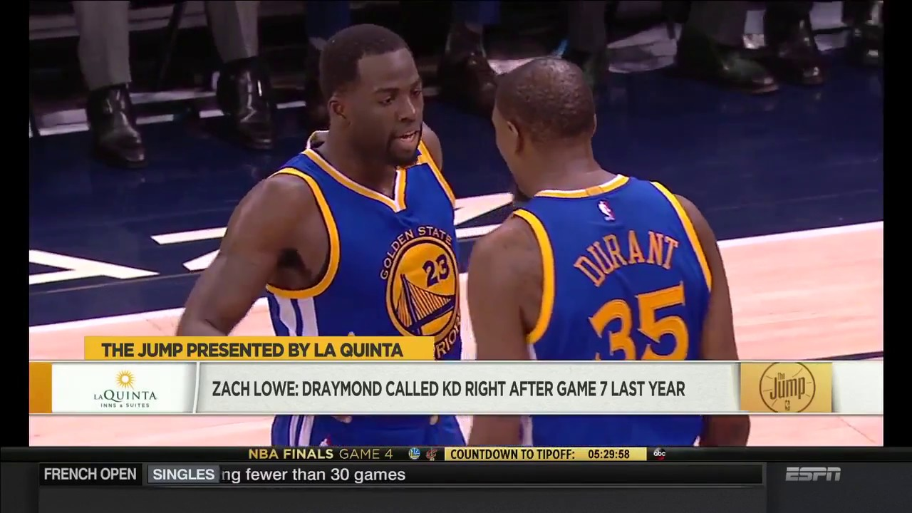 c0ca8a52767c Draymond Green called Kevin Durant right after Game 7 loss last year ...
