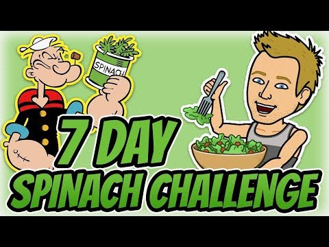 Take The 7 Day Popeye SPINACH CHALLENGE